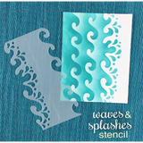 Waves & Splashes Stencil by Newton's Nook Designs - Kat Scrappiness