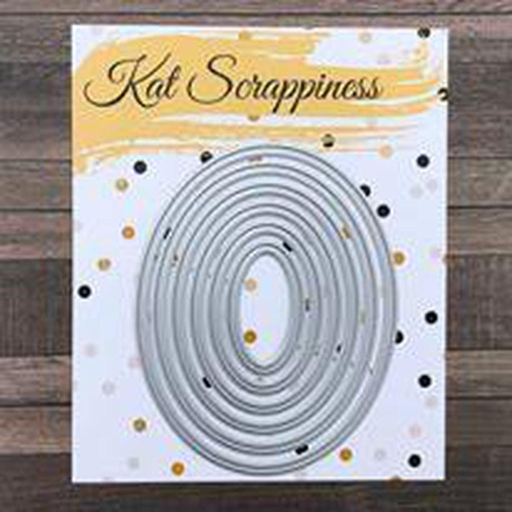 Embossed Edge Oval Dies by Kat Scrappiness