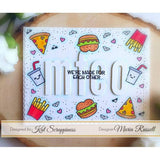 Punny Snacks Stamp Set by Kat Scrappiness