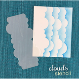 Clouds Stencil by Newton's Nook Designs - Kat Scrappiness
