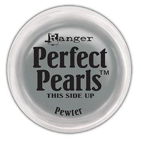 Perfect Pearls Pigment Powder .25oz - Pewter - Kat Scrappiness