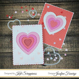 Double Stitched Heart Dies by Kat Scrappiness - Kat Scrappiness