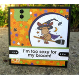 I'm Too Sexy For My Broom Cling Stamp by Riley & Co