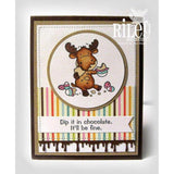 Dip it in Chocolate Cling Stamp by Riley & Co - Kat Scrappiness