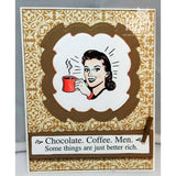 Chocolate Coffee Men Cling Stamp by Riley & Co - Kat Scrappiness