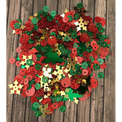 Christmas Cheer Sequin Mix by Kat Scrapiness - Kat Scrappiness