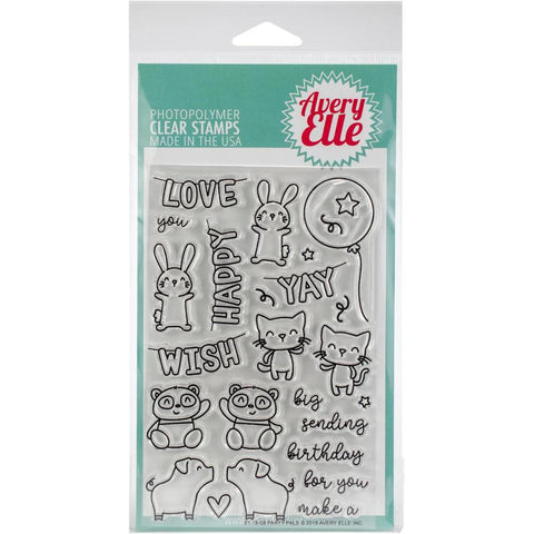 Party Pals 4X6 Clear Stamps by Avery Elle