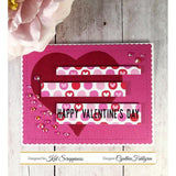 Stitched Sentiment Strips Dies by Kat Scrappiness