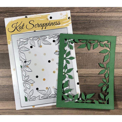 Foliage Frame Die by Kat Scrappiness