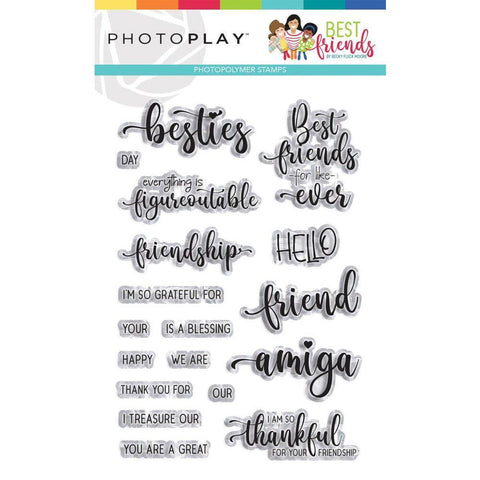 Best Friends 4x6 Clear Stamps by PhotoPlay - Kat Scrappiness