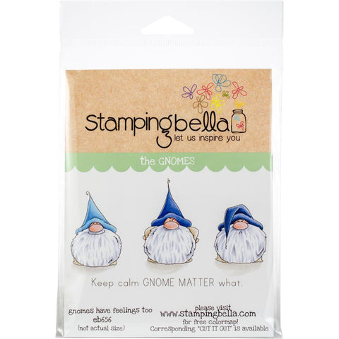 Gnomes Have Feelings Too Cling Stamp by Stamping Bella - Kat Scrappiness