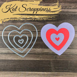 Layering Nested Heart Dies by Kat Scrappiness