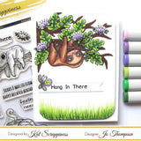 """Stewart the Sloth"" Stamp Set by Kat Scrappiness"