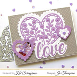 Wonky Wavy Stitched Heart Dies by Kat Scrappiness - Kat Scrappiness