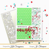 Ornament Strip Cover Plate Die by Kat Scrappiness