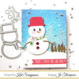 Stitched & Layered Snowman Die by Kat Scrappiness - Kat Scrappiness