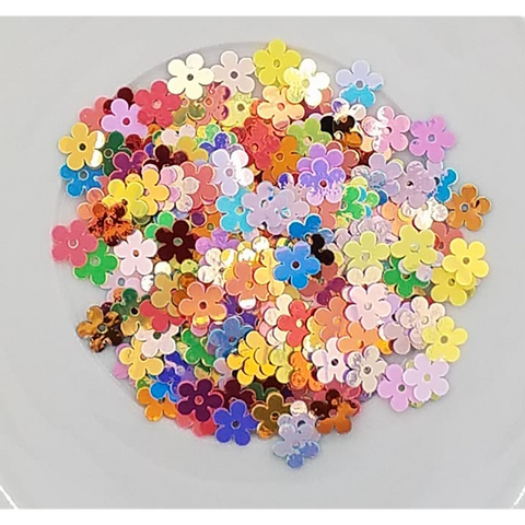 Metallic Mixed Flat Flower Sequins - Kat Scrappiness