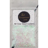 Clear AB Hollow Heart Confetti - Kat Scrappiness