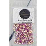 4mm Magenta AB Flower Blossoms - Sequins - Kat Scrappiness