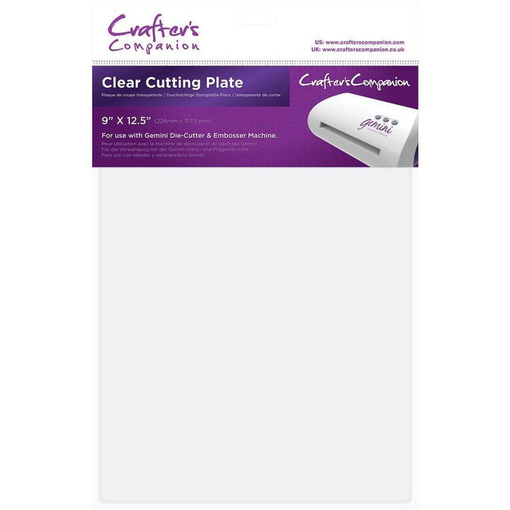 "Gemini Cutting Plate Clear 9""X12.5"" - Kat Scrappiness"
