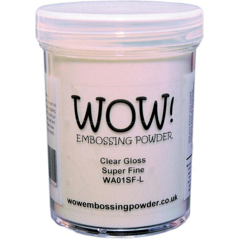 Clear Gloss - WOW! Super Fine Embossing Powder 15ml - Kat Scrappiness