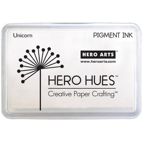 Unicorn White Pigment Ink Pad - Hero Hues by Hero Arts - Kat Scrappiness