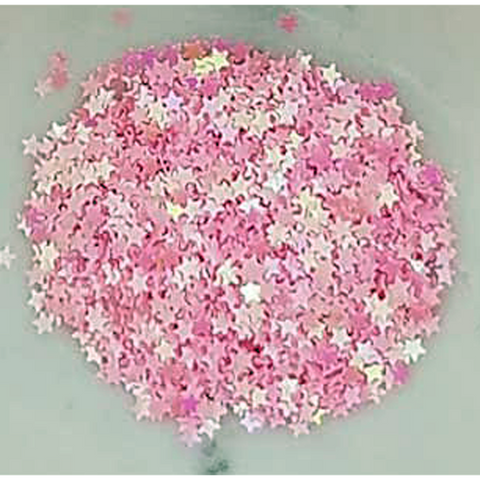 3mm Pink Solid Star Confetti - Shaker Card Fillers - Kat Scrappiness