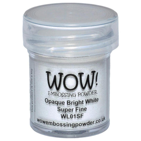 Opaque Bright White - WOW! Super Fine Embossing Powder 15ml - Kat Scrappiness