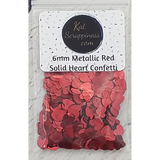 6mm Metallic Red Solid Heart Sequins - Kat Scrappiness