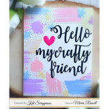 "Scripty ""Hello My Crafty Friend"" Die - *New* - Kat Scrappiness"