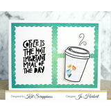 """Let's Get Caffeinated"" Stamp Set by Kat Scrappiness"