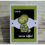 Coffeesaurus 3x4 Clear Stamp Set by Gerda Steiner Designs