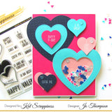 Embossed Edge Heart Dies by Kat Scrappiness - Kat Scrappiness