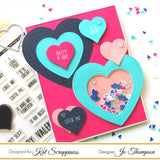"""Say It With Hearts"" Coordinating Heart Die by Kat Scrappiness"