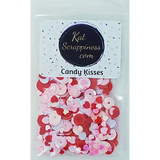 Candy Kisses Valentine Sequin Mix - Shaker Card Fillers - NEW! - Kat Scrappiness