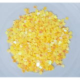 3mm Yellow Solid Heart Sequins - Kat Scrappiness