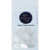 8mm Solid Clear Heart Sequins - Kat Scrappiness
