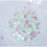 6mm Solid Clear Heart Sequins - Shaker Card Fillers - Kat Scrappiness