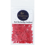 Red Butterfly Confetti- Shaker Card Fillers - NEW! - Kat Scrappiness