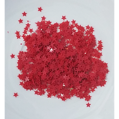 3mm Solid Red Star Confetti Mix - Shaker Card Fillers - NEW!