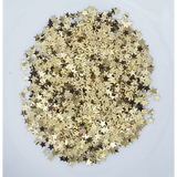 4mm Light Gold Solid Star Confetti Mix - Shaker Card Fillers - Kat Scrappiness