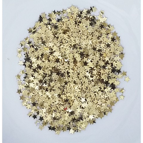 3mm Light Gold Star Confetti Mix - Shaker Card Fillers - NEW! - Kat Scrappiness
