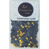NEW Celebration Gold Sequin Mix - Shaker Card Fillers - Kat Scrappiness