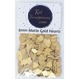 6mm Matte Gold Heart Sequins - Shaker Card Fillers - NEW! - Kat Scrappiness