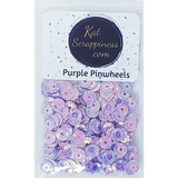 Purple Pinwheel Sequin Mix - Shaker Card Fillers - NEW! - Kat Scrappiness