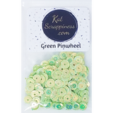Green Pinwheel Sequin Mix - Shaker Card Fillers - NEW! - Kat Scrappiness