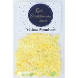 Yellow Pinwheel Sequin Mix - Kat Scrappiness