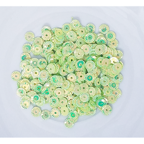 Green Pinwheel Sequin Mix - Kat Scrappiness