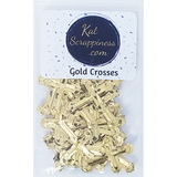 Gold Cross Sequins - Shaker Card Fillers - NEW! - Kat Scrappiness