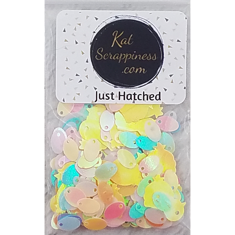 Just Hatched Sequin Mix - Kat Scrappiness